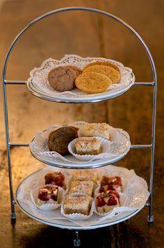 Hausgemachte Kuchen und Cookies