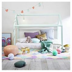 Bedtime? By @thislittlelove_au  #kidsroom #home #interior #styling #homedecor #design #childroom #childroomdesign #yogoplay #bedtime #bed #childbedroom