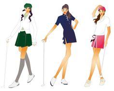 おしゃれにゴルフを。 Art Reference, Golf, Stylists, Sporty, Ballet Fashion, Expressions, Brittany, Creative, Illustration