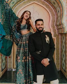 How To Make The Most Out Of A Intimate Pandemic Wedding Pastel Wedding Dresses, Royal Green, Green Lehenga, Haldi Ceremony, Green Gown, How To Look Handsome, Wedding Function, Saree Look, Bridal Outfits