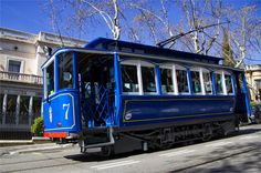 tramvia blau - av tibidabo barcelona . catalonia