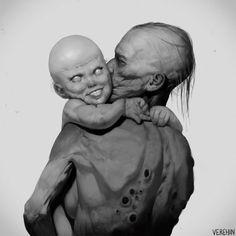 Arte Horror, Horror Art, Monster Concept Art, Dark Artwork, Skate Art, Black White Art, Animation, Creature Concept, Modern Artists
