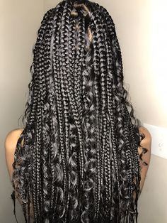 Braids Hairstyles Pictures, Cool Braid Hairstyles, African Braids Hairstyles, Baddie Hairstyles, Girl Hairstyles, Braids With Curls, Braids For Black Hair, Medium Hair Styles, Curly Hair Styles