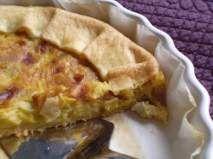 Ricetta Torta di porri con crema al gorgonzola