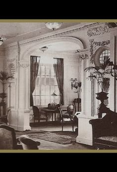 Titanic 1st Class Verandah | saloon the first class lounge the first class promenade deck