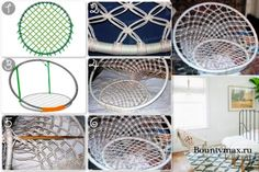 Macrame Chairs, Macrame Wall Hanging Patterns, Macrame Patterns, Macrame Design, Macrame Art, Diy Hammock, Diy Crafts For Home Decor, Swinging Chair, Home Decor Furniture