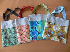 Jenny: Roll-up Tote Bag by Stumbles & Stitches, via Flickr - Quick & easy, great gift