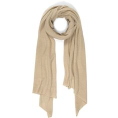 Cash Ca Cashmere Knitted Scarf (€285) ❤ liked on Polyvore featuring accessories, scarves, long shawl, wrap shawl, cashmere scarves, cashmere shawl and long scarves