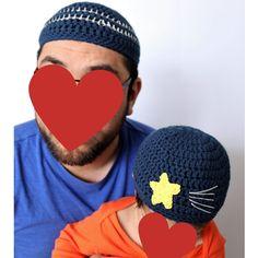 Baba and Me Ramadan Kufi hat Set, Daddy and Me Muslim Prayer Hat Set, Kufi Hat set, Muslim Beanie Set, Skullcap Beanie Set, prayer hat set