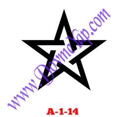 Yıldız Geçici Dövme Şablon Örneği Model No: A-1-14
