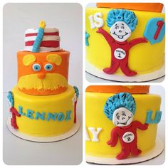 Loved this birthday theme for Dr. Suess #treebranchcakery