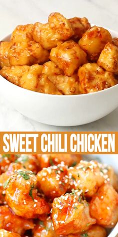 Sweet chili chicken is an easy recipe with crispy chicken and thai sweet chili sauce this chicken recipe is so good you will want to lick the plate! rasamalaysia com easy breakfast casserole Easy Chinese Recipes, Easy Chicken Recipes, Indian Food Recipes, Healthy Dinner Recipes, Asian Recipes, Cooking Recipes, Chili Recipes, Thai Food Recipes Easy, Good Recipes