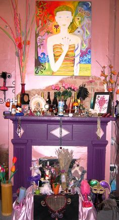 Hoodoo Magick Rootwork: Voodoo Altar. Follow me @Amber Sheffield Collections . Visit Paranormalcollections.com to see more cool magick stuff.