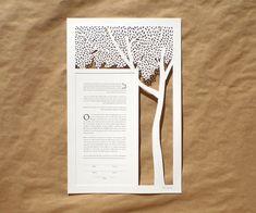 Tree of Life papercut ketubah by WoodlandPapercuts on Etsy