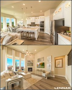 Do you ARORE these wood FLOORS?! Galley Kitchens, Flower Mound, Beautiful Dining Rooms, Model Homes, House Floor Plans, Dream Homes, Living Rooms, Dreaming Of You, Floors