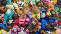 Amazing painting of mini stuffed animals