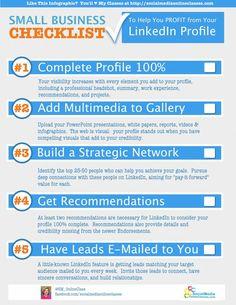 LinkedIn Sales Checklist for Small Businesses Infographic Inbound Marketing, Digital Marketing Strategy, Business Marketing, Internet Marketing, Business Tips, Content Marketing, Mobile Marketing, Media Marketing, Affiliate Marketing