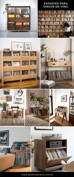 Inspiração: estantes e prateleiras pra você organizar os seus discos de vinil