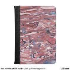 Red Mineral Stone Kindle Case
