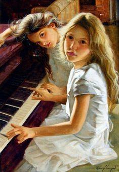 «Bimbe al pianoforte», Giuseppe Cacciapuoti (1969)