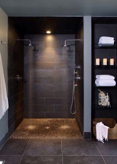 I want a door on this shower, but I am kind of intrigued by the doorlessness of it all, too.