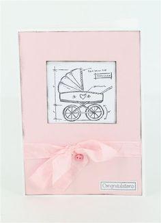 Baby blueprints stamp, Craft Queen satin seam binding. www.craftqueen.com.au