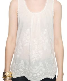 $22.80...Sleeveless Embroidered Top   FOREVER21 - 2000036371