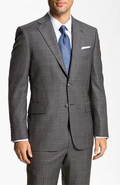 Joseph Abboud 'Signature Silver' Plaid Suit available at #Nordstromweddings