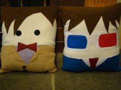 AAGH. Doctor Who plush pillow,  David Tennent, 10th Dr decorative pillow. $30.00, via Etsy.