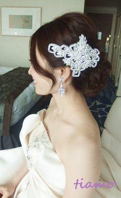 お洒落で可愛い花嫁さまの素敵な一日♡ の画像 大人可愛いブライダルヘアメイク 『tiamo』 の結婚カタログ