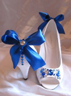 Awww! Custom Rhinestoned Wedding Sorority Prom shoes by Ava Mae, $70.00