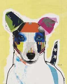 Paper Scrap Pooch Collages Michel Keck Forms the Faces of Dogs Using Leftover Materials