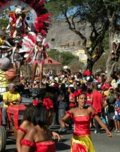Scenes from the Mardi Gras carnival in Mindelo, Cape Verde (African islands off Senegal).  in March.