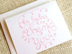 Set of 10 Thank You Cards for Baby Girl - Cute Simple Pink or Purple Baby Shower Thank You Notes - H Baby Thank You Cards, Baby Shower Thank You, Thank You Notes, Happy Design, Your Design, Baby Shower Purple, Purple Baby, Teacher Quotes, Keep It Simple
