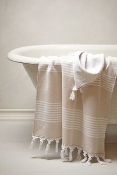 Anthropologie Thermae Fringe Towel Collection