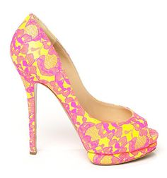 What could possibly be better than a demure lace-covered peep-toe?  one done in totally unexpected neon hues.  LOVIN the Nicholas Kirkwood Lace Peep Toe Platform Pumps!!!!!