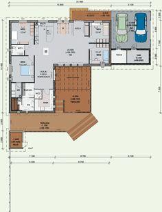Herrala Talojen Villa Olivia 146 -talomallin pohjapiirros Villa, Floor Plans, Exterior, Flooring, How To Plan, Architecture, Highlights, Decor, Ideas