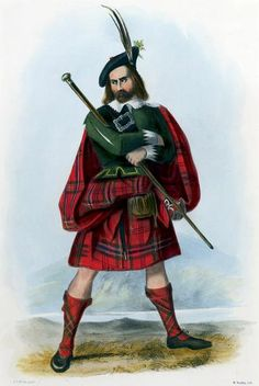"""""""Mac Lean"""" illustration by R. R. McIan, from James Logan's The Clans of the Scottish Highlands, 1845.Clan MacLean are one of the oldest clans in the Highlands and owned large tracts of land in Argyll as well as the Inner Hebrides. Many early MacLeans became famous for their honour, strength and courage in battle. They were involved in many clan skirmishes with the MacKinnons, Camerons, MacDonalds and Campbells. They were fierce Jacobites fighting in all of the Jacobite risings."""