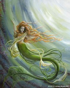 Beautiful mermaid painting for my bathroom! Fantasy Mermaids, Real Mermaids, Mermaids And Mermen, Mermaid Cove, Mermaid Fairy, Mermaid Lagoon, Magical Creatures, Sea Creatures, Mermaid Artwork