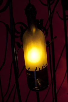 upcycled bottle light www.wonkyworks.in