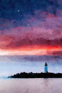 Original Animal Painting by Louise Mcnaught Watercolor Sunset, Watercolor Paper, Watercolour Mountains, Abstract Watercolor Art, Watercolor Landscape Paintings, Sunset Art, Watercolor Paintings For Beginners, Beginner Painting, Watercolor Techniques