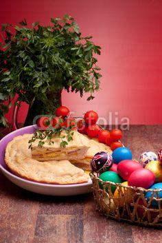 Easter Eggs And Pizza Rustica � eZeePics Studio #40535416