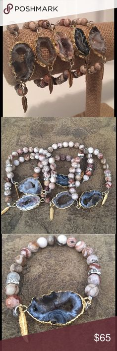 🆕Jasper & AgateCharm Stretch The colors of this jasper & Agate Bead Stretch bracelet are an absolute show stopper!!! This is a must have bracelet to go with your every outfit!! Price is for one.  🔴Price is FIRM❣️ ☑️I ship same or next day!! Boho Gypsy Sisters Jewelry Bracelets