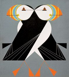 Charley Harper's 'Puffins Passing'