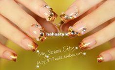 Bande Tiger perle affichage faux ongles d'art, conseils de manucure nail art de…