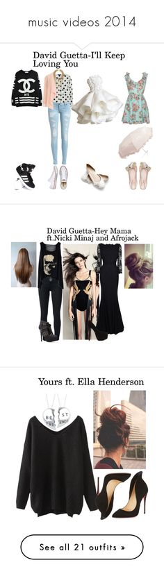 """music videos 2014"" by ante-more ❤ liked on Polyvore featuring Dorothy Perkins, adidas, Converse, Miu Miu, Forever New, Victoria Beckham, Diane Von Furstenberg, Christian Louboutin, rag & bone/JEAN and Crash & Burn"