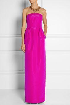 OSCAR DE LA RENTA Strapless silk-faille gown £3,750