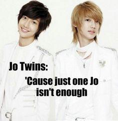 Jo twins Kwangmin and Youngmin