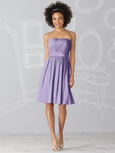 Passion (light lavender) short in lux chiffon -- After Six 6620 from Dessy