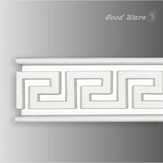 Polyurethane chair rail greek key molding is X X Our Goodware moldings are all open to customization. Molding Ceiling, Chair Rail Molding, Panel Moulding, Faux Stone, Greek Key, Ceiling Decor, Interior Design Tips, Eclectic Decor, Furniture Inspiration